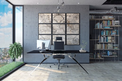 Industrial home office decor inspiration