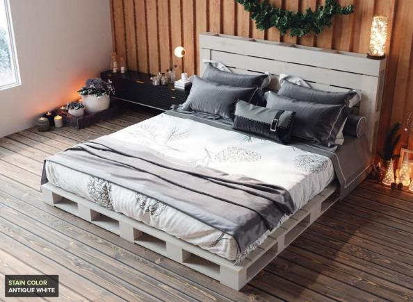 King Size Pallet Bed - Includes Headboard and Platform