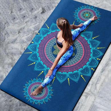Large Thick Yoga Mat Mandala Design