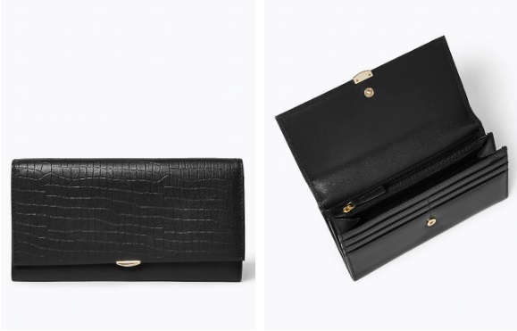 Leather Croc Effect Cardsafe™ Purse from M&S. For £25 you can buy one of the most affordable leather wallets for women's that will last years.