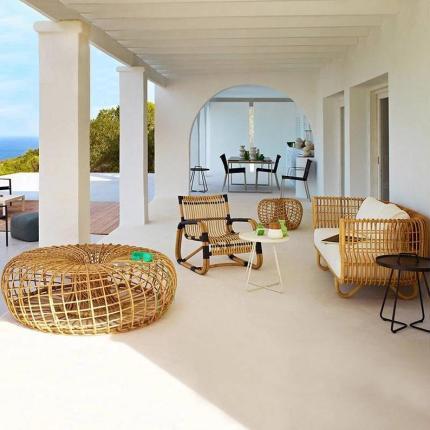 Modern rattan patio furniture sofa single chair and coffee table