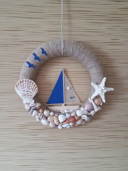 Nautical summer wreath