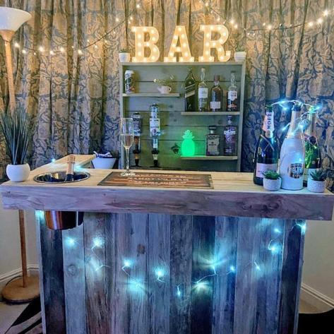 Outdoor Bar & Wall unit with optics