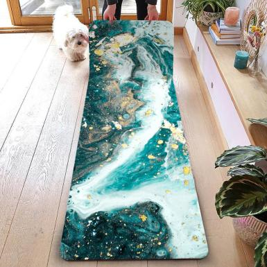Personalized Marble Pattern Printed Yoga Mat