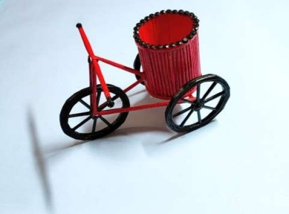 how to make a paper bike step by step with images