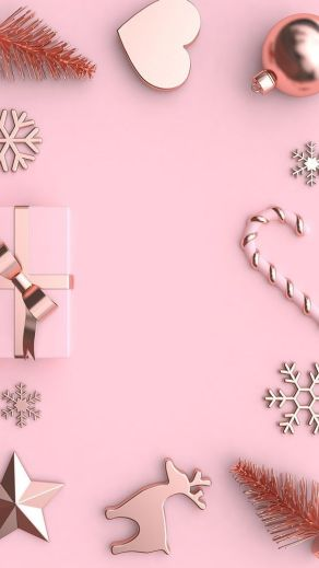 Pink Christmas wallpaper for iPhone