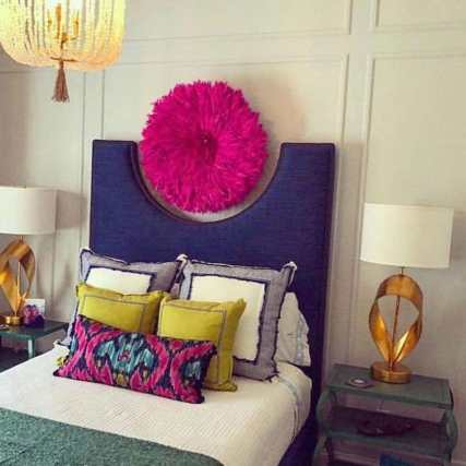 Pink juju hat wall decor for bedroom