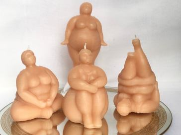 Plus size curvy body candle