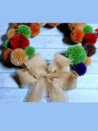 Pompom Christmas wreath ideas