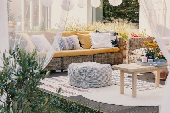 Rattan furniture for indoor and outdoor space decor