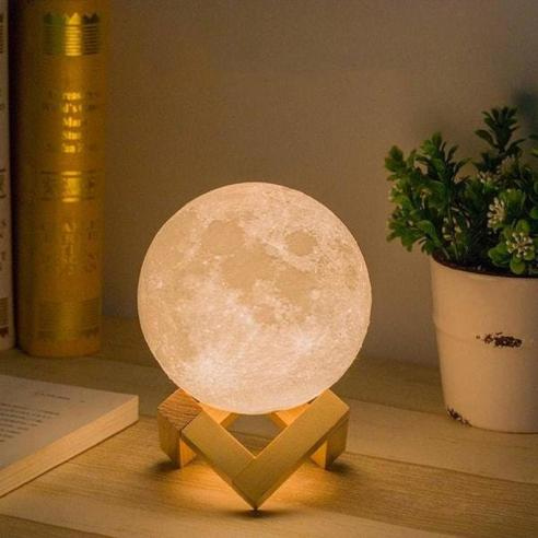 Rechargeable remote control Moon Led Light Lamp