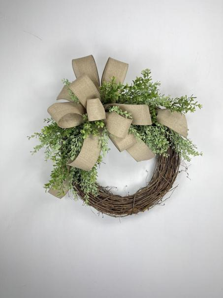 Rustic wreath for front door