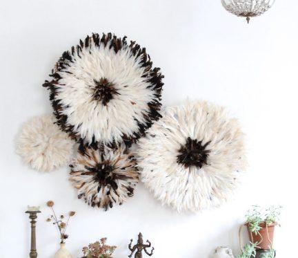 Set of 4 juju hats natural feathers