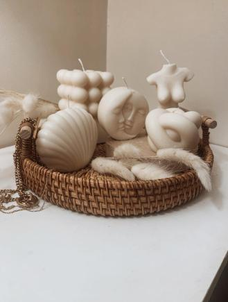 Soy wax set of decorative candles