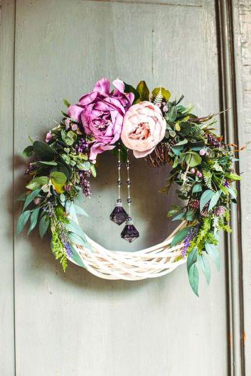 Spring Peony Wreath