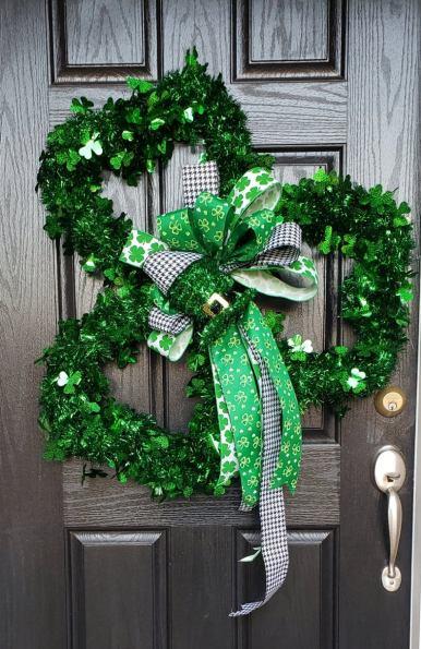 St Patrick  Day Clover Wreath