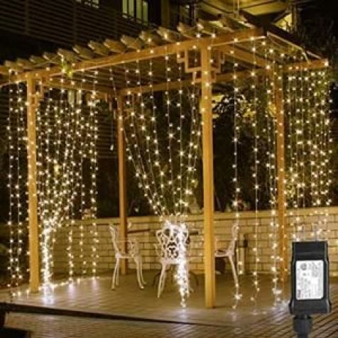 String Lights LE 306 LED Curtain Lights 9.8 x 9.8 ft