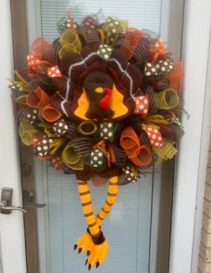 Thanksgiving Mesh Wreath