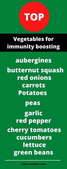 Top vegetables for immunity boosting