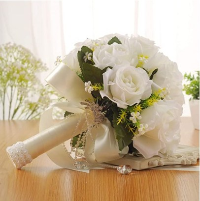 White Artificial Flowers Artificial Flowers Wedding Bride Holding Flowers Creative Western-Style Wedding Supplies Wedding Bouquets