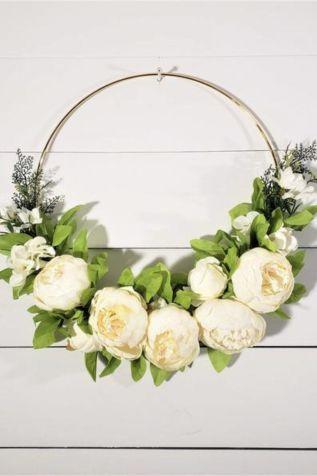 White peony spring Wreath