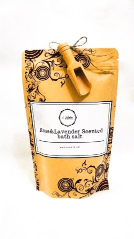 Luxury scented bath salt for deep relaxation. Soak your body in a rich minerals water to boost your immune system.