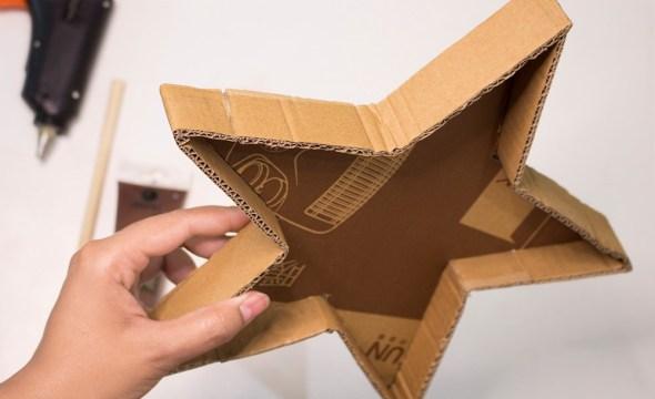 cardboard star tray tutorial