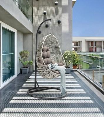 elegant rattan egg chair for balcony