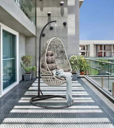 elegant rattan egg chair for balcony