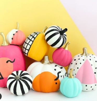 happy colourful pumpkin ideas craft for kids