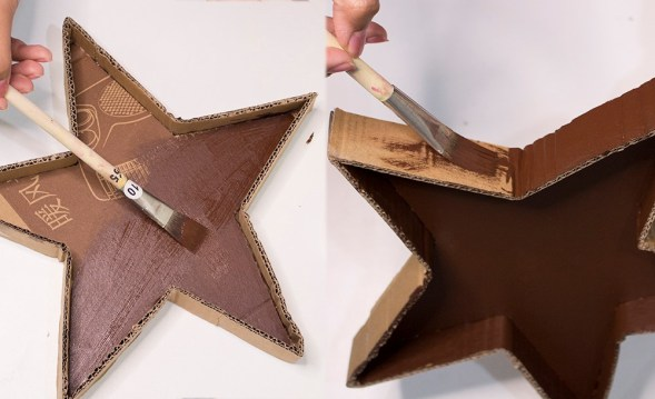 now paint the cardboard star tray