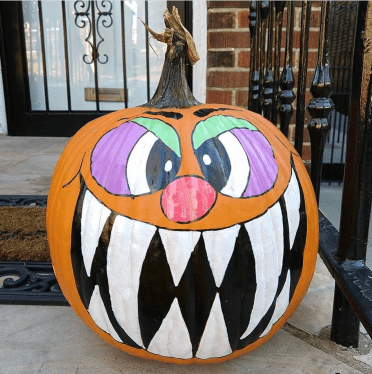 scary character painted pumpkin ideas