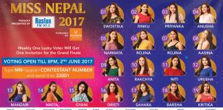 Miss Nepal 2017popular choice
