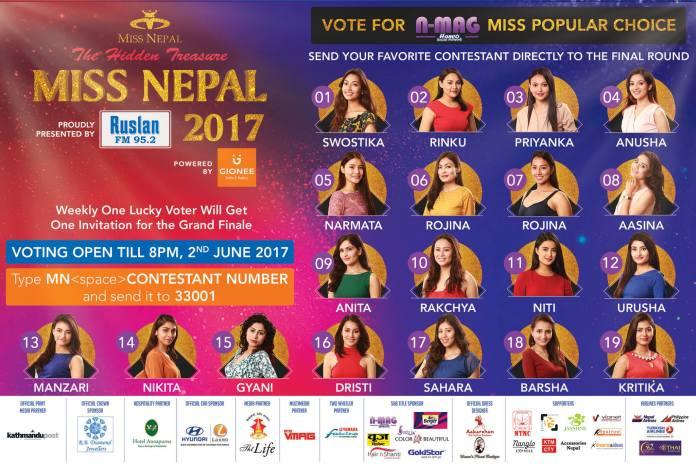 Miss Nepal 2017popular choice