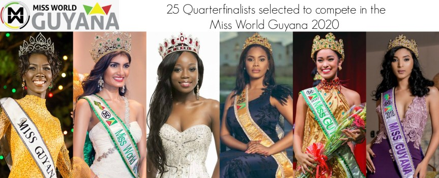 MISS WORLD GUYANA 2020 QUARTERFINALISTS ANNOUNCED!