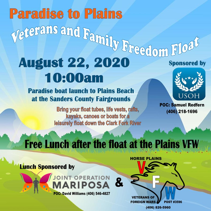 Paradise to Plains Veterans and Family Freedom Float