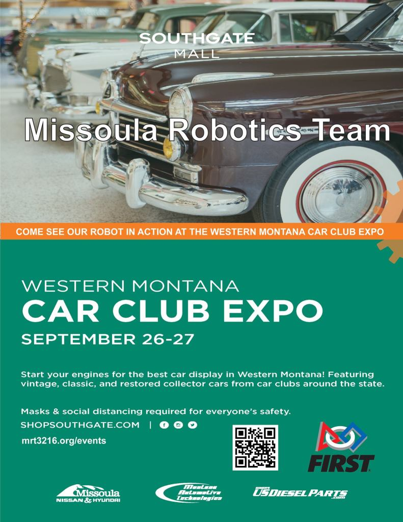 Missoula Robotics Team present Western Montana Car Club Expo