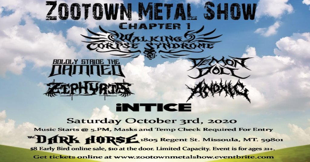 Zootown Metal Show at the Dark Horse