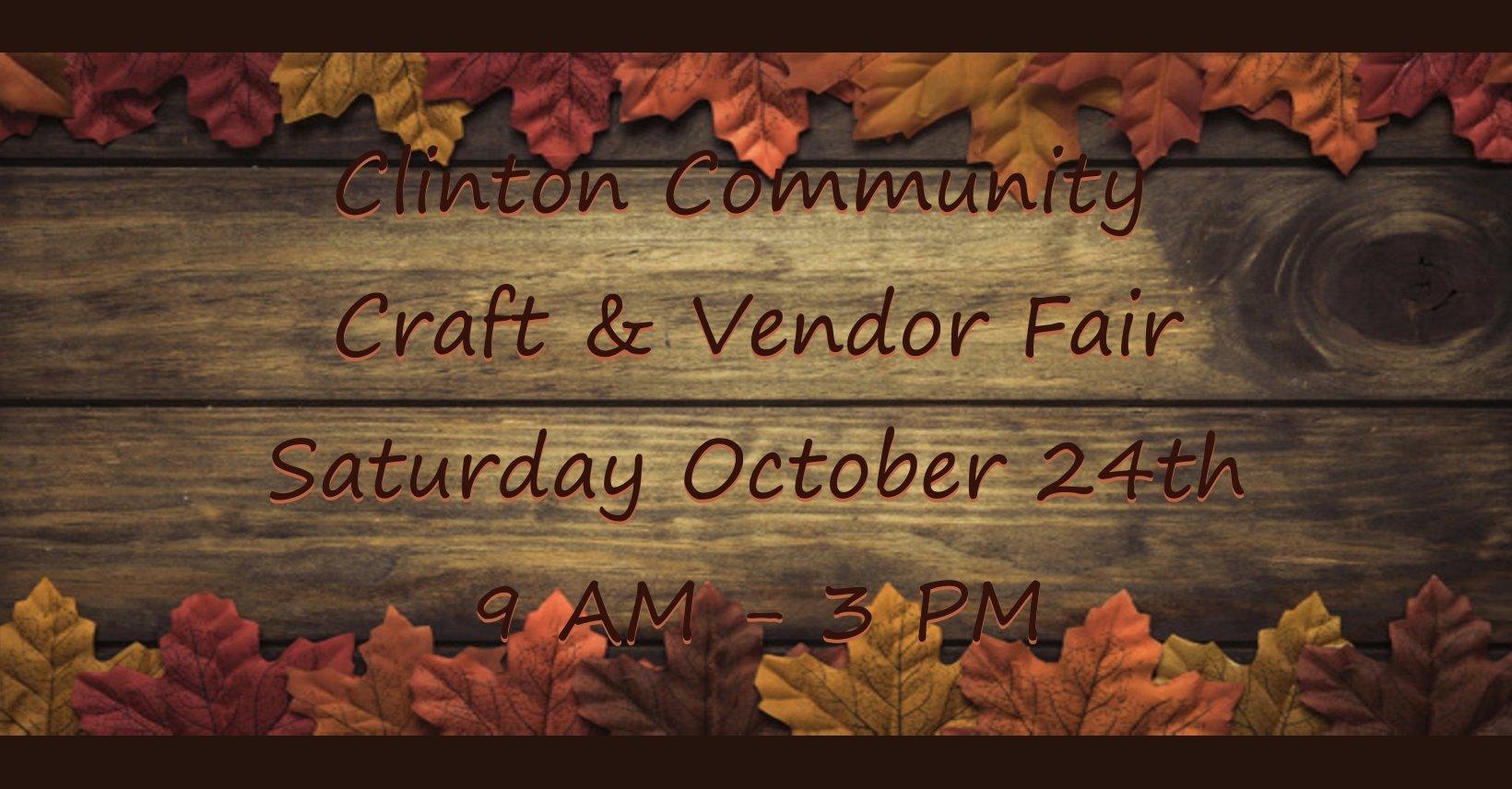 Clinton Community Craft & Vendor Fair