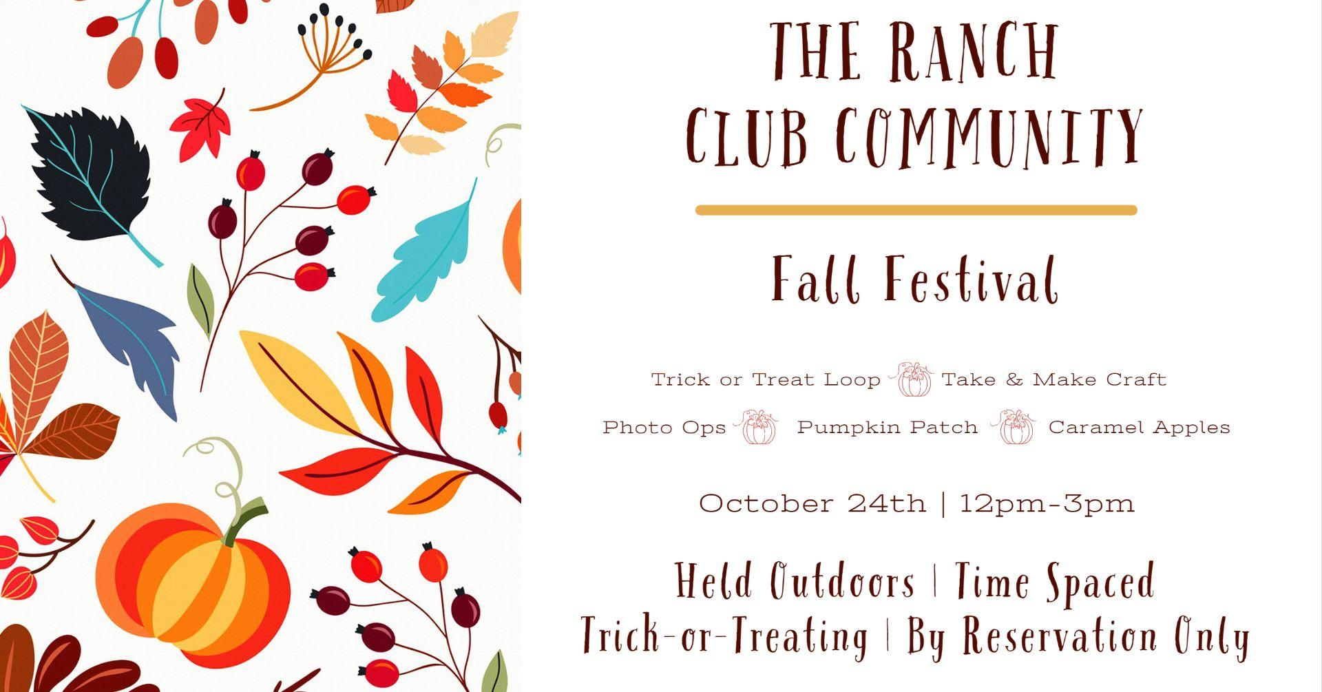 The Ranch Club Community Fall Festival