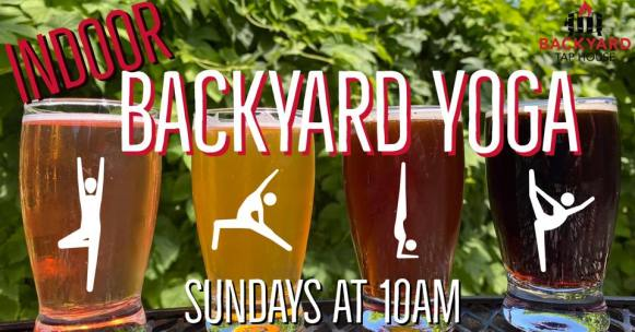 Indoor Backyard Yoga at Backyard Tap House in Florence