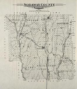 Plat Map of Nodoway County Missouri 1910