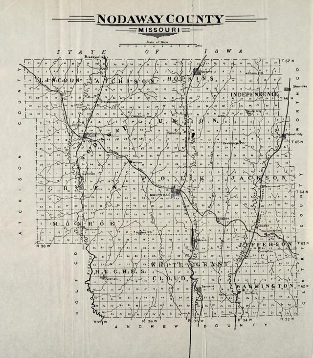 Plat Map of Nodoway County Missouri 1910