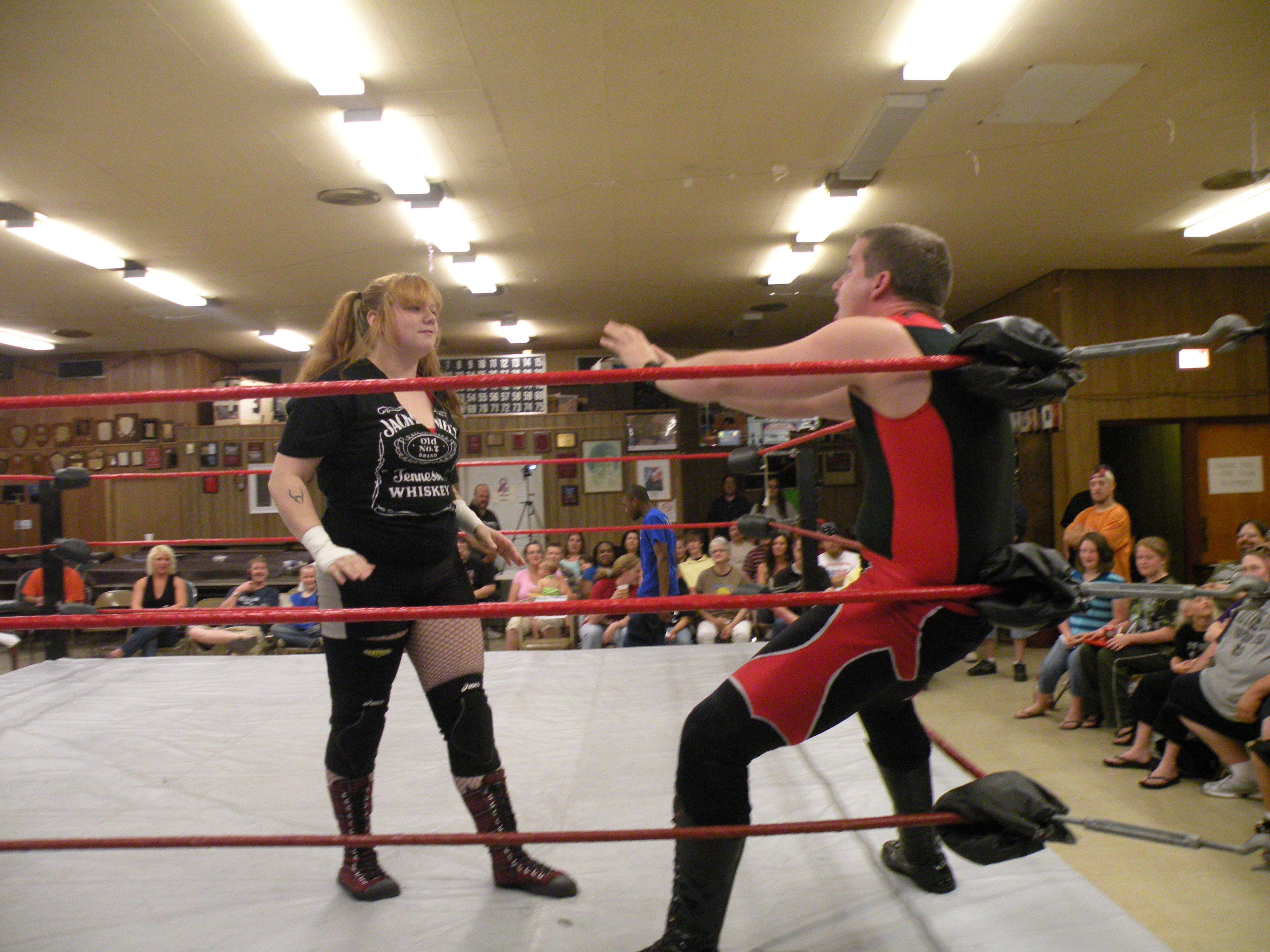 "Mickie Knuckles never backs down from a fight. Vincent finds out why she is one of the best females in the world today. (Photo credit Brian ""Flair"" Kelley)"