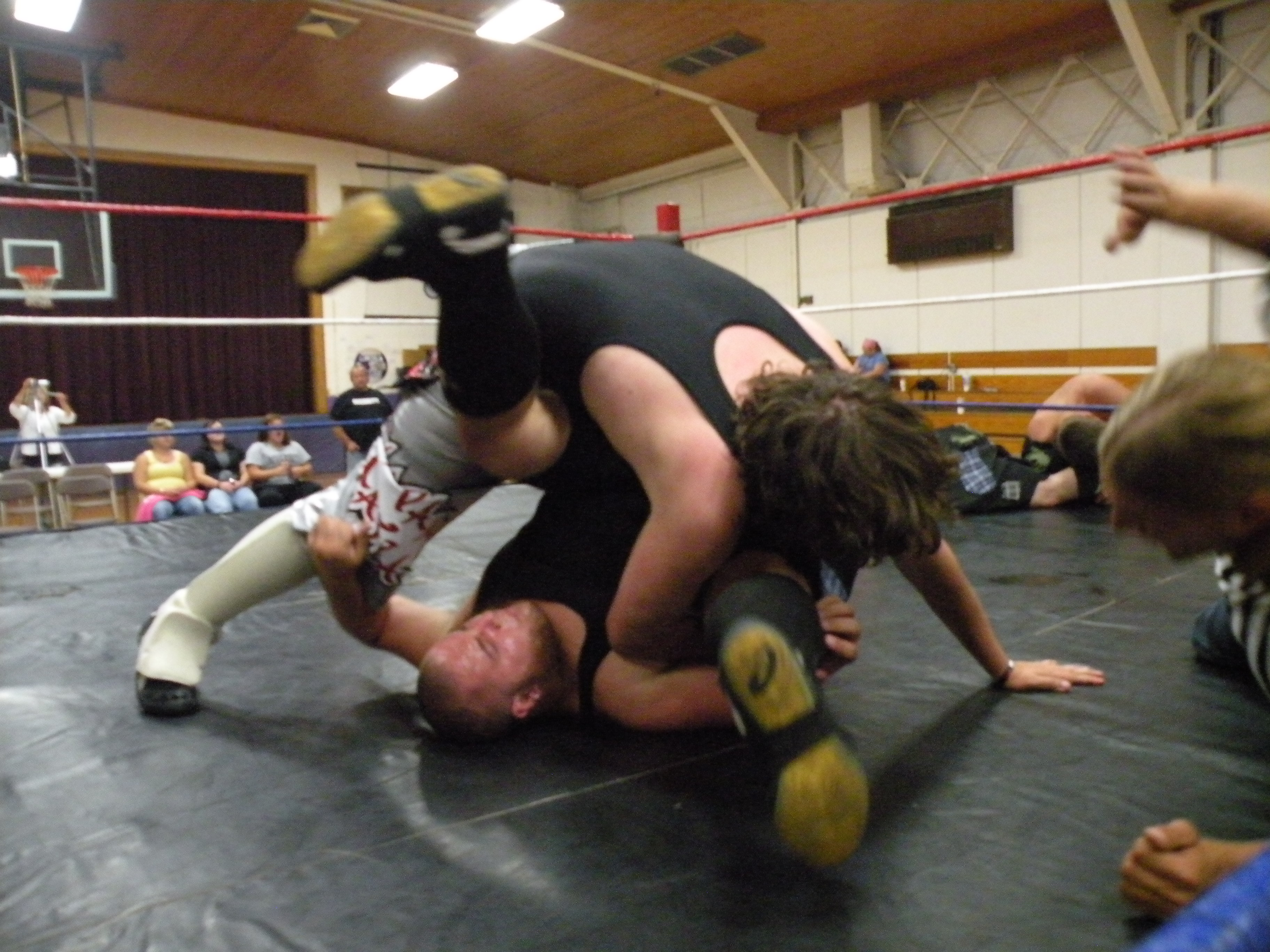 """Pierre Abernathy scores the big win in there on going feud. (Photo Credit Brian """"Flair"""" Kelley)"""