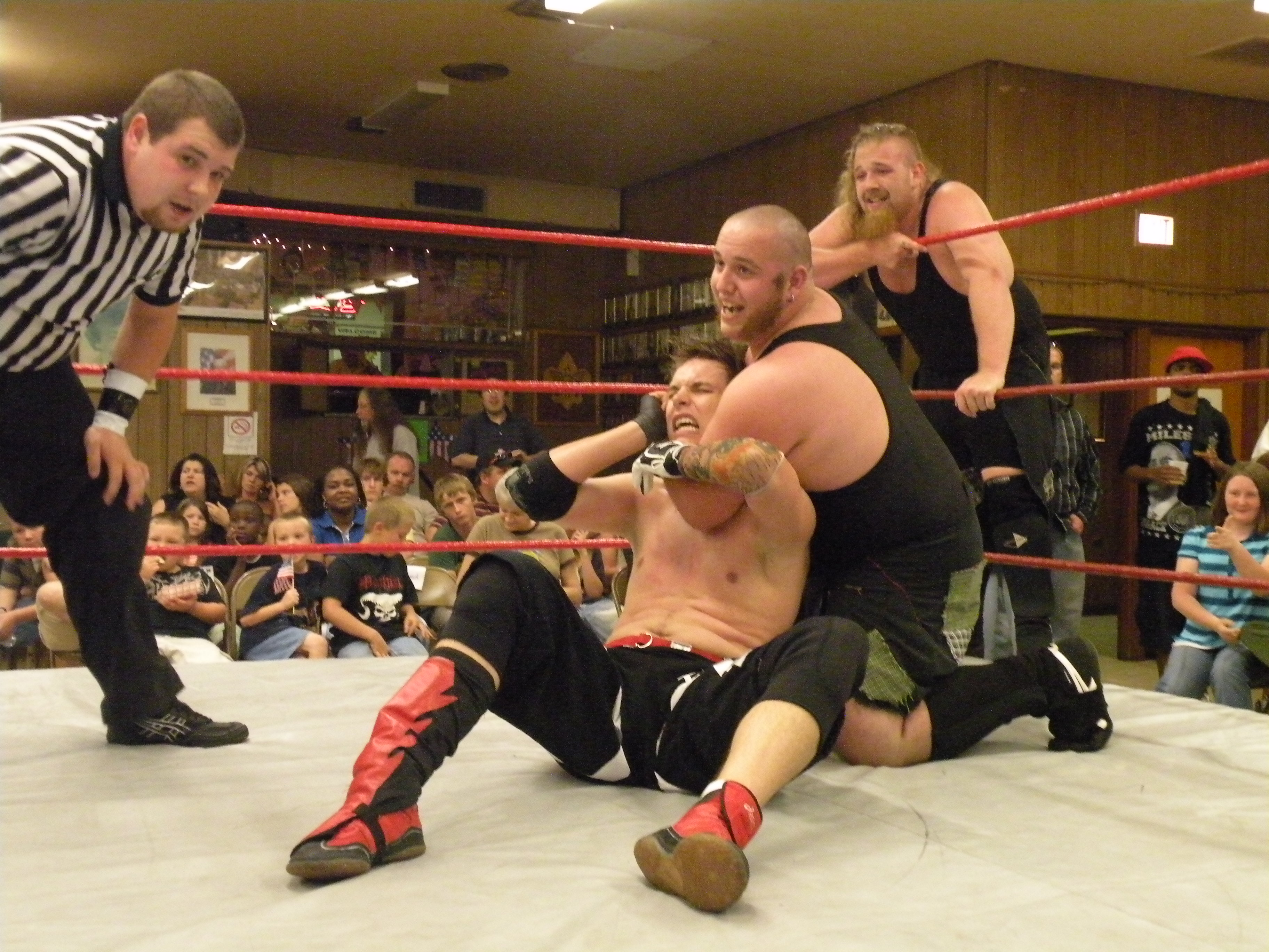 """The Hooligans have Evan Gelistico where they want him. (Photo Credit Brian """"Flair"""" Kelley)"""