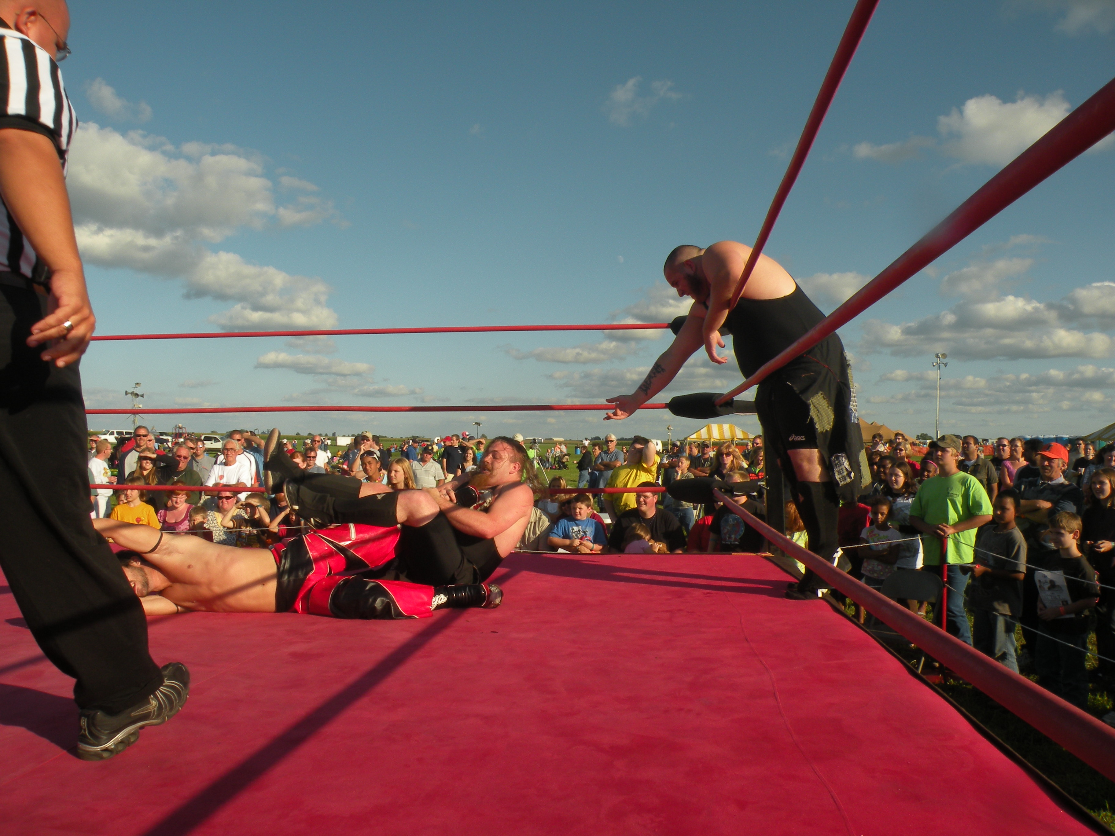"The Hooligans cut the ring in half better than anyone in the Midwest. (Photo Credit Brian ""Flair"" Kelley)"
