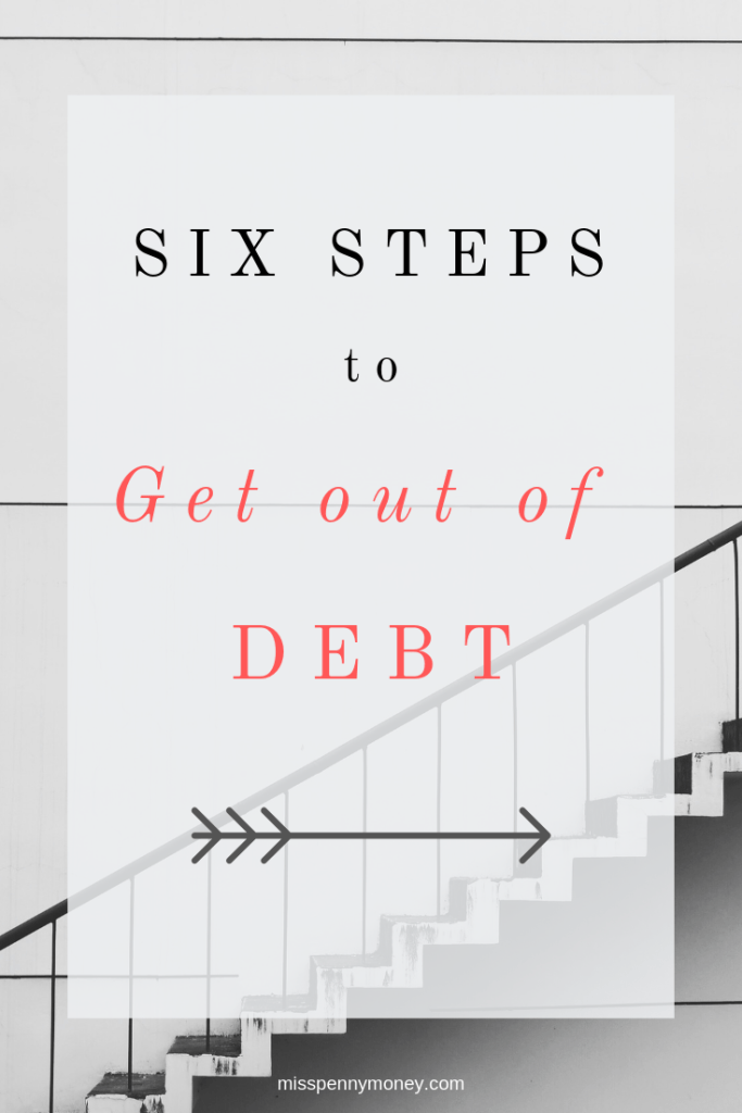 Six Steps to Get Out of Debt PIN