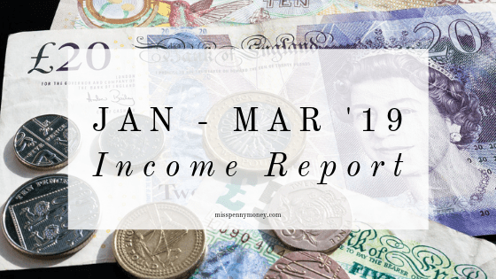 January to March 2019 Income Report