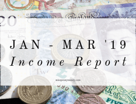 Miss Penny Money's Income Report Jan-Mar 2019
